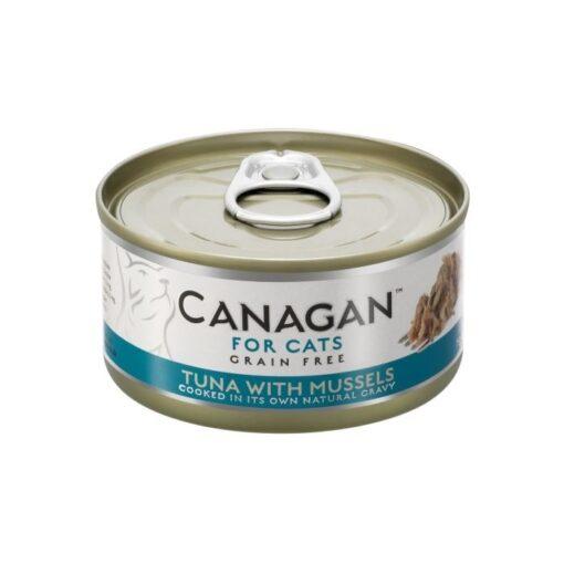 Kassikonserv Canagan tuunikala ja rannakarpidega