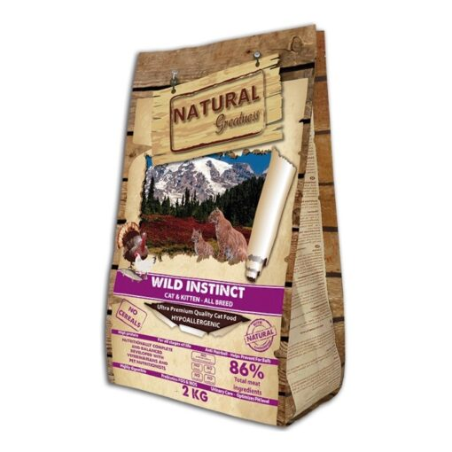 Natural Greatness teraviljavaba kasside kuivtoit Wild Instinct
