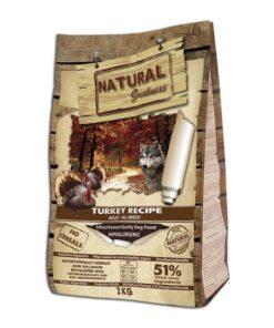 Natural Greatness teraviljavaba koerte kuivtoit Turkey Recipe