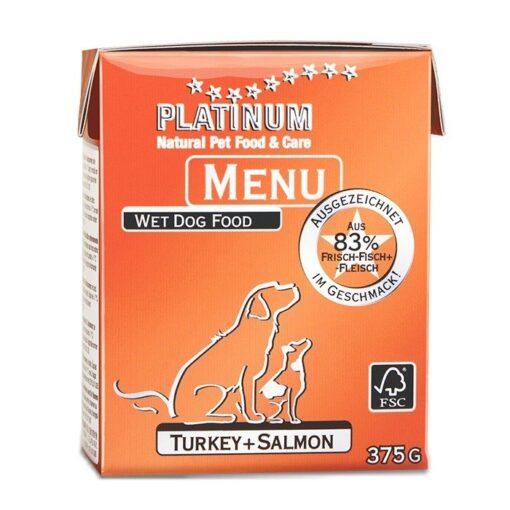 Koerakonserv Platinum MENU kalkuni ja lõhega