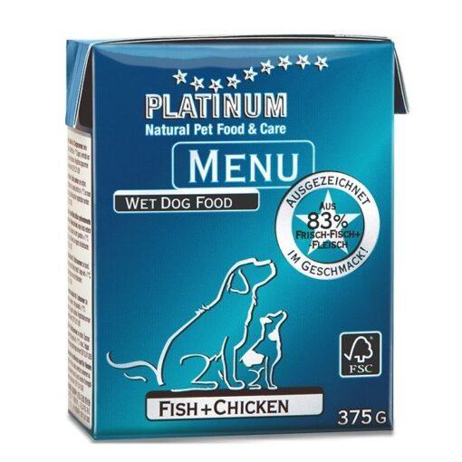 Koerakonserv Platinum MENU kanaliha ja kalaga