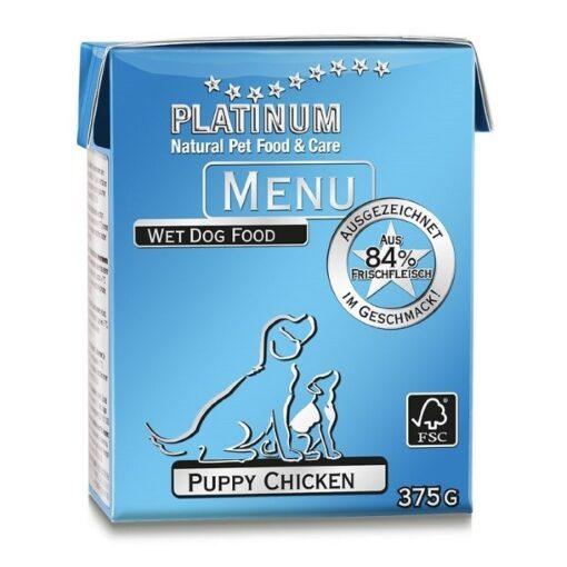 Koerakonserv Platinum MENU kanalihaga kutsikale