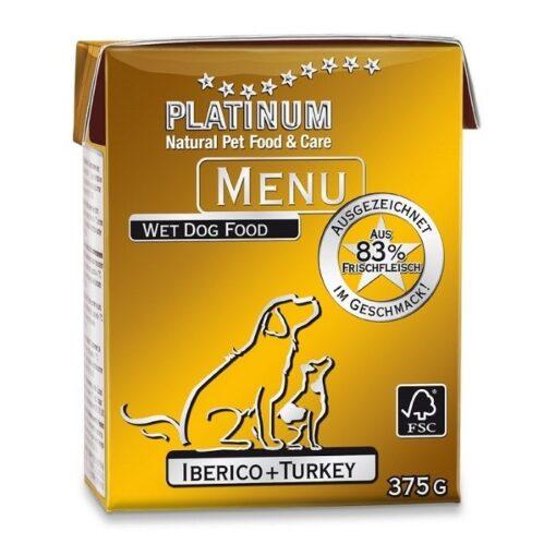 Koerakonserv Platinum MENU sea- ja kalkunilihaga