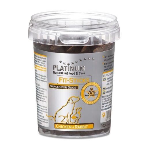 Platinum Fit Sticks maiused koertele kana- ja küülikulihaga