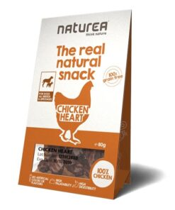 Naturea The real natural snack maius koertele kana südamest