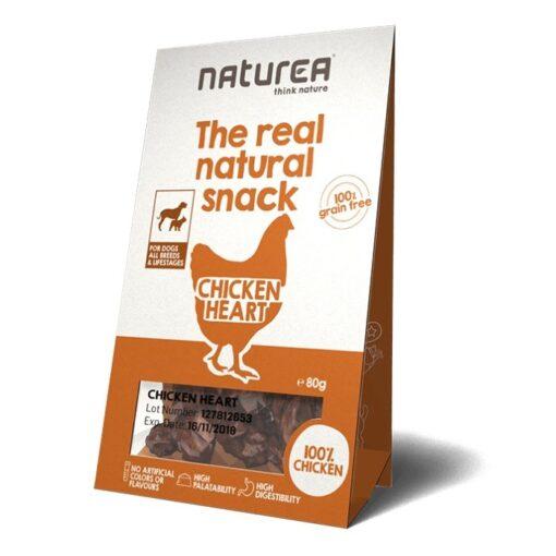 Naturea The real natural snack maius koertele kana südamest