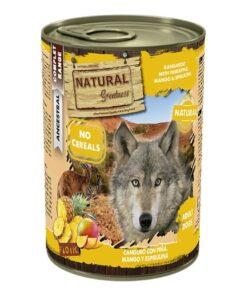 Natural Greatness teraviljavaba konserv koertele KÄNGURU ananassi, mango ja spirulinaga